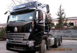 16tons実質の車軸が付いているSinotruk 420HPのトラクターのトラック