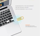Freies Firmenzeichen-Metallgoldsilber Dtse9 USB-grelles Feder-Laufwerk