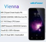 Couleur 64-bit de blanc de smartphone d'identification de contact du faisceau 13.0MP de ROM Mtk6753 Octa 5.5inch FHD 4G Lte du RAM 3GB 32GB de haute fidélité de l'androïde 5.1 d'Ulefone Vienne
