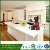 Countertop van de Steen van het Kwarts van de vlek Bestand Super Witte voor Keuken en Badkamers