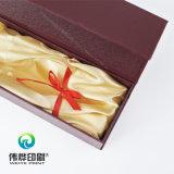Caixa costurada da bebida do presente/papel do vinho com papel extravagante