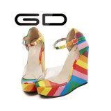PU Sandal Sole Design Colorful Rivet Girls Sandals