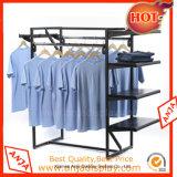 Soporte de visualización de la ropa de los estantes de visualización de la ropa del metal