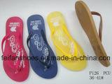 安い女性のサイズPVC唯一のスリッパ、アフリカの市場(FFLT1017-01)のための大きさの多彩なサンダル