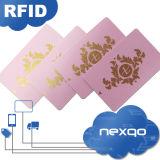 Tarjeta elegante barata del control de acceso del plástico RFID del PVC con el código de barras