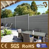 Cerca plástica de madera de la aislamiento del compuesto WPC de la instalación fácil para la decoración del jardín