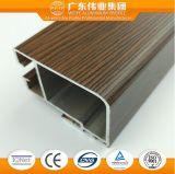 Profil de guichet en aluminium et de porte des graines en bois de 6063 séries