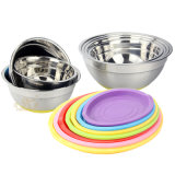 Stainless Steel Salad Basin with Silica Gel Lid (FT - 00201)