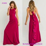 Elegantes Sleeveless A - Zeile Abend-Kleid mit Rüschen ziehen an sich zurück