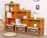 Шкаф Bookrack Bamboo шкафа книги Bookcase отделяемый для домашней гостиницы