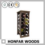 現代家具の木製のワインのホールダーの黒