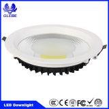 Lampe moulée à moulée en aluminium ronde LED à encastrer Downlight COB SMD Ce / RoHS