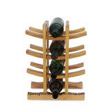 Estante de bambú natural del estante del vino de la botella del sostenedor 12 del material sólido