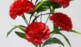 Künstliche/Plastik-/Silk Blumen-einzelner Stamm der Gartennelke (XF31006)