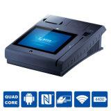 Terminal financeiro seguro da posição do cartão de Mastercard do débito com impressora