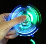 Transparente LED-helle Handspinner-Unruhe-Kristallplastikspinner