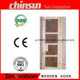 Portello di legno solido con legno verniciato solido