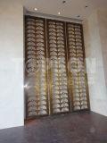 Cloison de séparation se pliante de diviseur de pièce d'écran en métal décoratif d'acier inoxydable