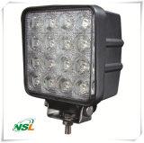 O trabalho do diodo emissor de luz ilumina a lâmpada 48W