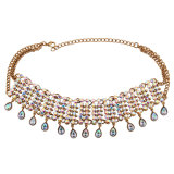 Juwelen van de Halsband van de Nauwsluitende halsketting van de Diamant van het Kristal van het Bergkristal van de manier de Schitterende Kleurrijke Volledige