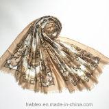 2017 ha personalizzato superiore della sciarpa viscosa di modo (HW16)