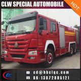 Pompe à incendie chaude de véhicule de lutte contre l'incendie de mousse des ventes HOWO 6X4 12t 16t Waer