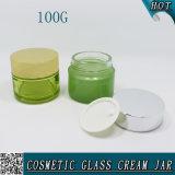 100mlはシリンダー化粧品の顔マスクのガラス瓶100gを空ける