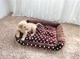 Het Bed van het Huisdier van de Stof van het Flanel van drie Grootte voor Hond