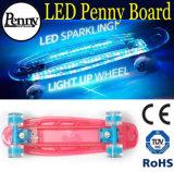 LED 가벼운 플라스틱 페니 & 니켈 널 스케이트보드