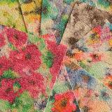 Cuir estampé d'unité centrale de fleur pour les chaussures de sacs à main (E6070)