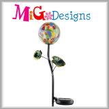 Estaca al aire libre del diseño de la flor del metal con las luces solares del LED