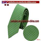 De Band van de Polyester van de Stropdas van de Zijde van 100% stippelt Bloemen Geweven Stropdas (B8013)