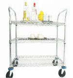 Multipropósito 3 Niveles de bebidas de acero de la carretilla con la aprobación de la NSF