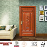 Portes en bois de teck solide en bois externe de porte de chambre à coucher (GSP2-004)