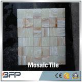 多彩なオニックスのモザイク、正方形の大理石の石、壁のタイル