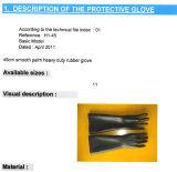 Сверхмощный черный промышленный латекс Glove-5601