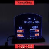 Подгонянная карточка Ym-LC07 знака предела париа таблицы Limitcasino таблицы Blackjack СИД типа электронная