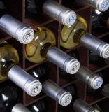 Barra de madeira da HOME da cozinha do armazenamento do suporte de frasco do gabinete do vinho do suporte de madeira do vinho com o suporte de frasco de vidro do vinho da cremalheira