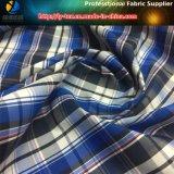 Poliéster hilo liso teñido de tela, chaqueta textil tejido con impermeable (yd1050)