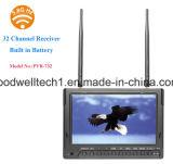 1024X600 moniteur lcd de 7 pouces avec DVR et batterie