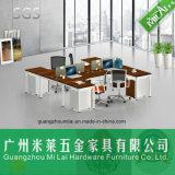 Muebles de oficinas del sitio de trabajo lateral doble de la oficina de la alta calidad con la cabina móvil