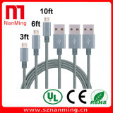 Микро- заплетенный шнур заряжателя Sync данным по кабеля USB