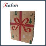 Sac de cadeau d'achats réutilisé par Brown de papier d'emballage de vente en gros d'audit de BSCI