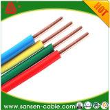 Solo cable aislado PVC del edificio del alambre H07V-U H07V-R del edificio de la BV del alambre eléctrico de la base del conductor de cobre