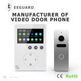 Внутренная связь памяти 4.3 дюйма телефона двери домашней обеспеченностью дверного звонока видео-