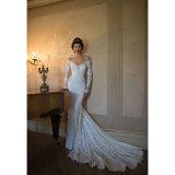 Bertaのレースの人魚のガウンの花嫁のウェディングドレス(夢100103)