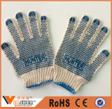 Промышленные устранимые перчатки взрослого Knit шнура хлопка безопасности перчаток хлопка