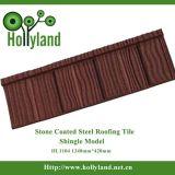 Blad van het Dak van het Metaal van de Kleur van de baksteen het Steen Met een laag bedekte (Houten Tegel)