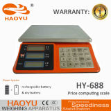 Elektronische wiegende Preis-Schuppe der nachladbaren Batterie-4V/4ah