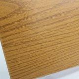 Hoja de aluminio revestida del color de madera del grano para la pared de cortina